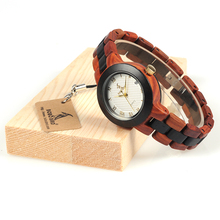 BOBO BIRD 2017 Newest Two-tone Wooden Watch for Women Brand Design Quartz Watches in Wood Box