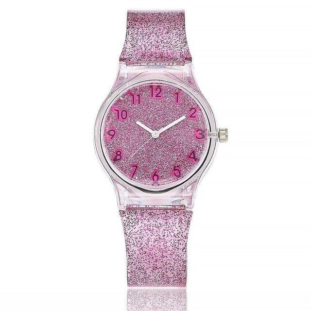 MEIBO Watch Women Lovely Cute Transparent Jelly Silicone Watchband  Life Waterproof Quartz Wrist Watch Relogio Feminino Relogio
