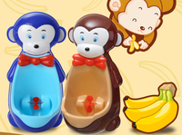 Monkey Shape Children Urinal Potty Toilet Training Kids Urinal For Boys Bathroom Pee Trainer Baby Kids Standing Potties