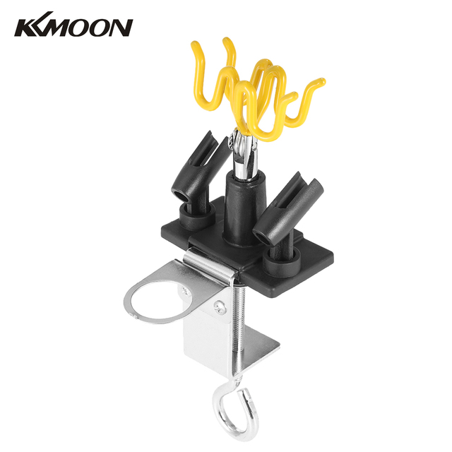 kkmoon airbrush holder holding 4 clamp on mount table bench station