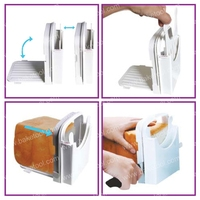 4pac Lot FDA High Quality Plastic Multi Sized Toast Slicer Bread Cutter Mould