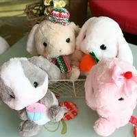 1pcs 22cm New Cute Japan Kawaii Long Ear Papa Lop Rabbit With Bamboo Charcoal Bag Big