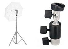 """360 градусов металлические поворотные флэш-зонтик стенд кронштейн держатель 1/4 """"и 3/8"""" для Осветительные стойки штатив"""