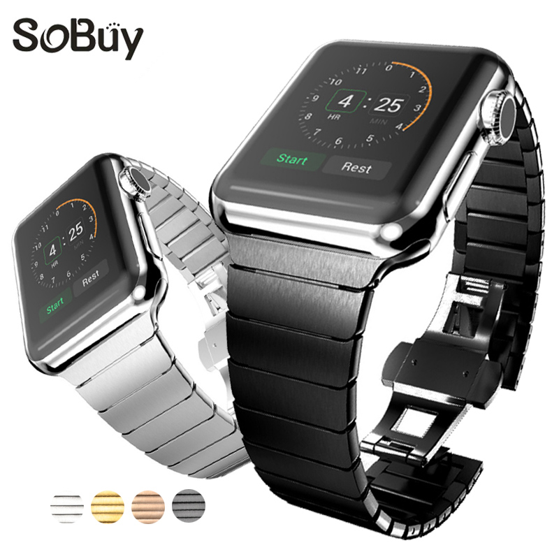 So buy Link Bracelet Stainless Steel band for apple watch iwatch series 1 2 3 42mm 38mm strap Men Wristband Ms metal Wrist bands so buy wrist bracelet 316l stainless steel bands for apple watch 42mm 38mm iwatch strap series 1 2 3 sport milan nice metal band