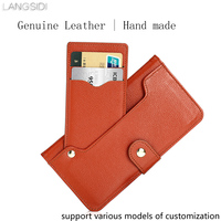 Genuine Leather Case For Xiaomi Redmi 5 Plus Wallet Flip Case Phone Cover Multi Functional Card