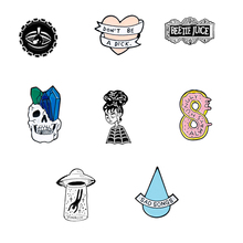 Funny Jewelry  Collection Brooch pin Women Men Children Accessories enamel Denim clothes Badge Breastpin