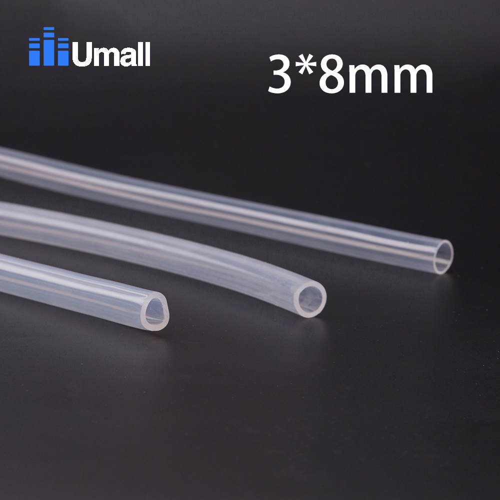 3*8mm Food Grade Medical Use FDA Silicone Rubber Flexible Tube / Hose Pipe
