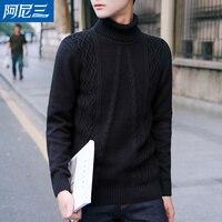 Paisley Christmas Sweater Men Turtle Neck Sweater For Men Sweater Black Cotton Preppy Men Fashion Sweater