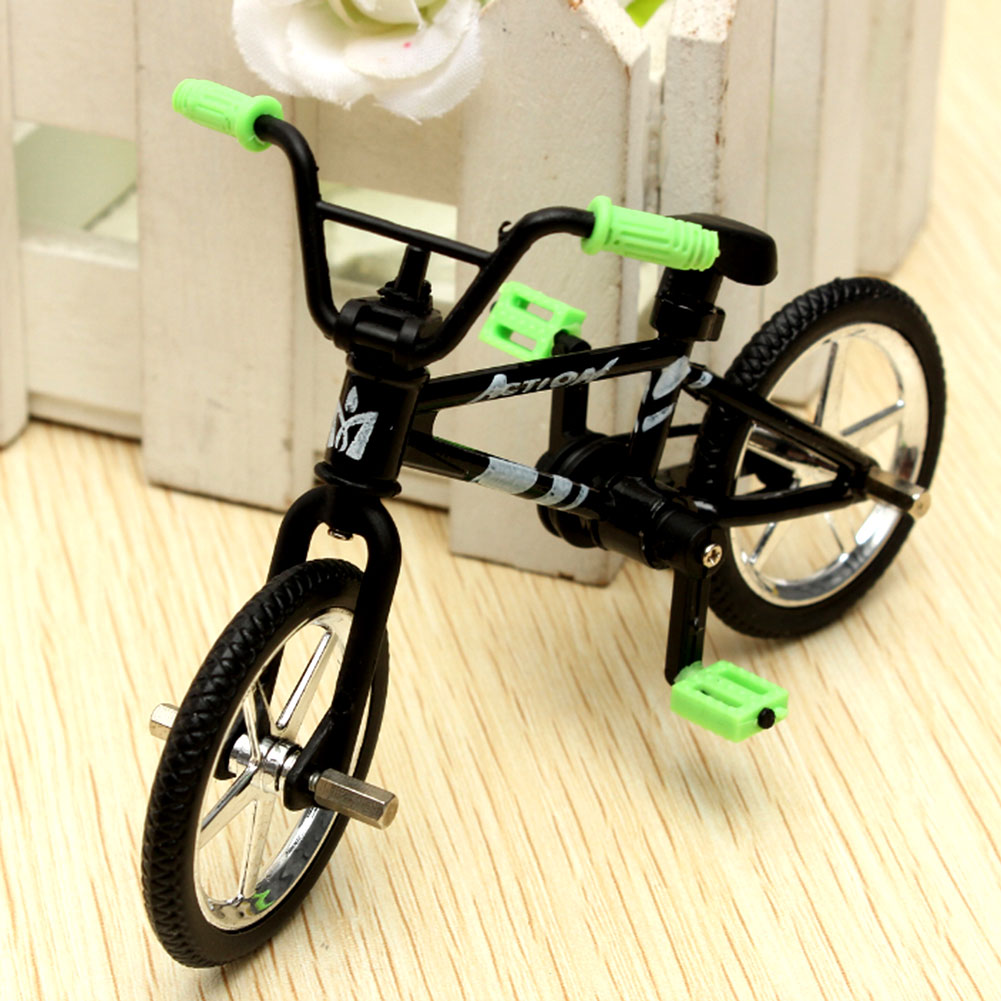 Mini Fuctional Finger BMX Toys Mountain Bike Fixie Bicycle Toy Creative Game Workmanship Toy Gift New Random Color Wholesale