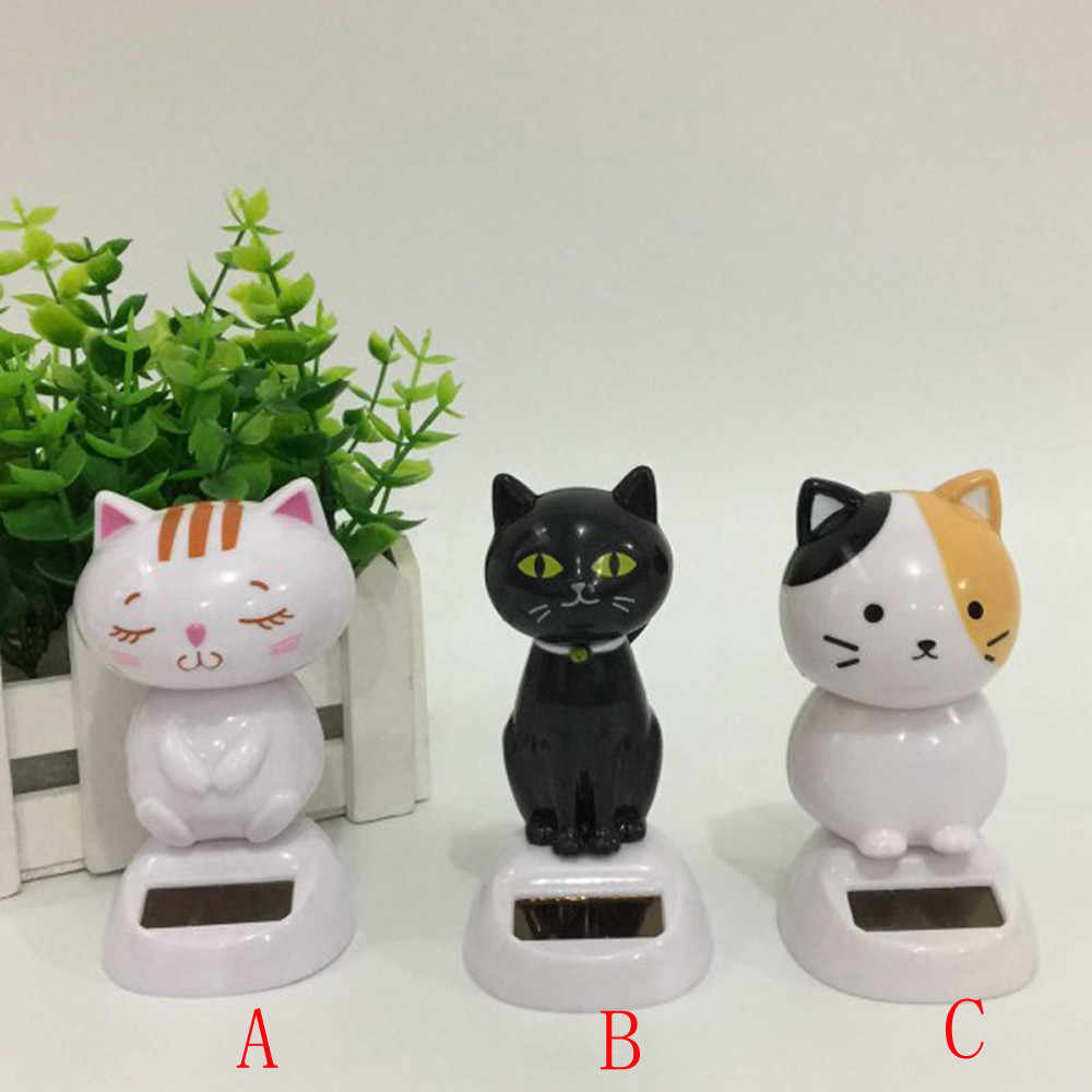 2019 NEW Solar Powered Dancing Animal Swinging Animated Bobble Dancer Toy Car Decor Cat Dropshipping Ornaments Interior