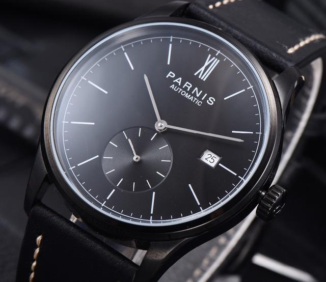 Parnis zegarki mechaniczne Diver minimalistyczny zegarek dla mężczyzn zegarek luksusowy wodoodporny automatyczny hombre Relogio męski 2019