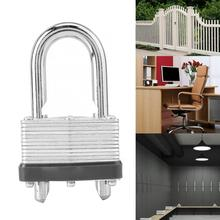 все цены на 44mm Steel Shackle Padlock Long Lock Beam Highly Waterproof Rustproof Safety Door Cabinet Lock Padlock онлайн
