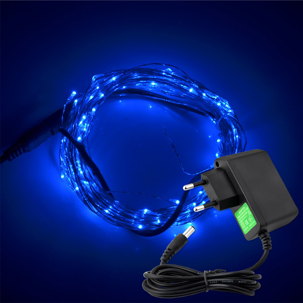 tsleen 328ft silver coating wire string 100 led starry lights 12v1a fairy effects cheap lighting effects