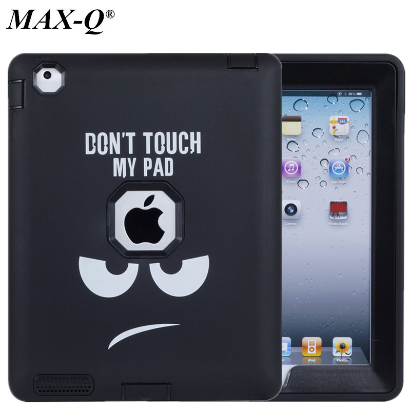 NEW Armor Shockproof Case For Apple iPad 2 iPad 3 iPad 4 Silicon Heavy Duty Hard Case Cover Full Body Protective For Ipad 4 Case armor heavy duty shockproof hard case for apple ipad air 2 full protection flip leather cover for ipad 6with auto wake sleep