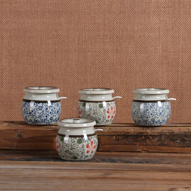 Sugar bowl Creative Cooking Pots Ceramic Sugar Pot Porcelain Kitchen