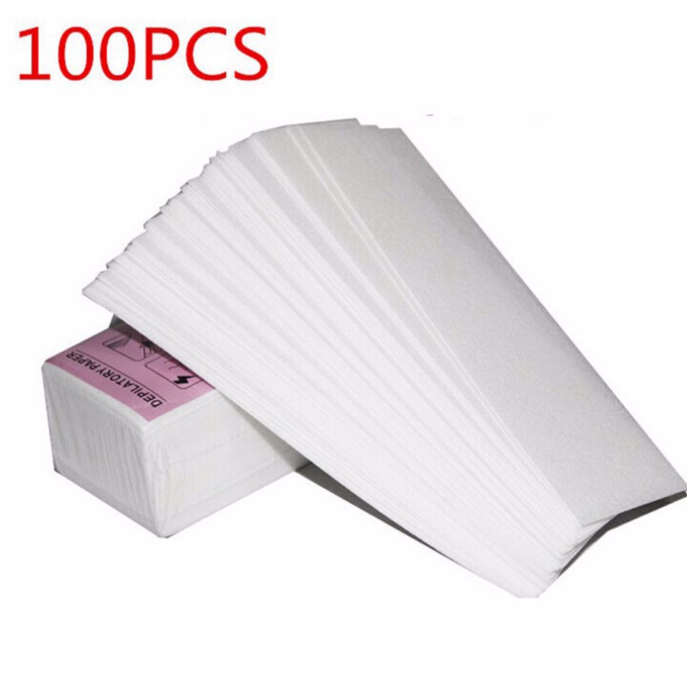 100 Pcs/lot Professional Hair Removal Epilator Wax Strip Paper Roll Removal Nonwoven Body Cloth Hair Remove Wax Paper Rolls