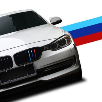 Cotochsun Car styling Sports Front Grille Sticker For BMW 1 2 3 4 5 6 7 series X3 X4 X5 X6 E30 E46 E84 E90 E60 E61 F10 F11 F12 image