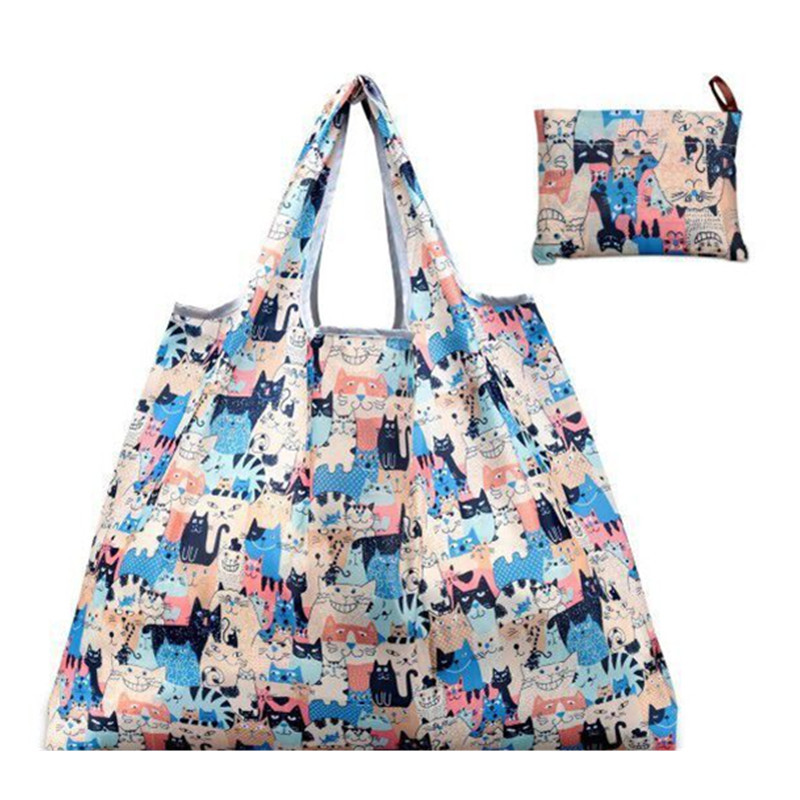 1PC New Colors Cat Shopping Bag Lady Foldable Oxford Cloth Reusable Fruit Vegetable Grocery Pouch Recycle Organization Bag1PC New Colors Cat Shopping Bag Lady Foldable Oxford Cloth Reusable Fruit Vegetable Grocery Pouch Recycle Organization Bag