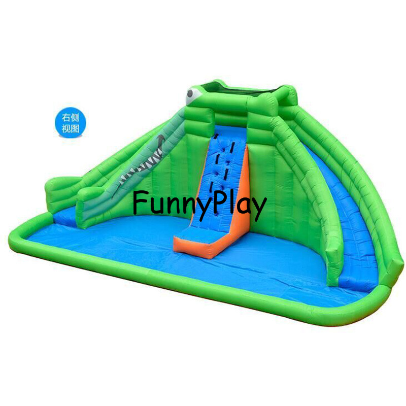 Inflatable Slide Mini Bouncer Inflatable Water Slide with Pool for kids with Free CE blower,children inflatable pool with slide commercial sea inflatable blue water slide with pool and arch for kids