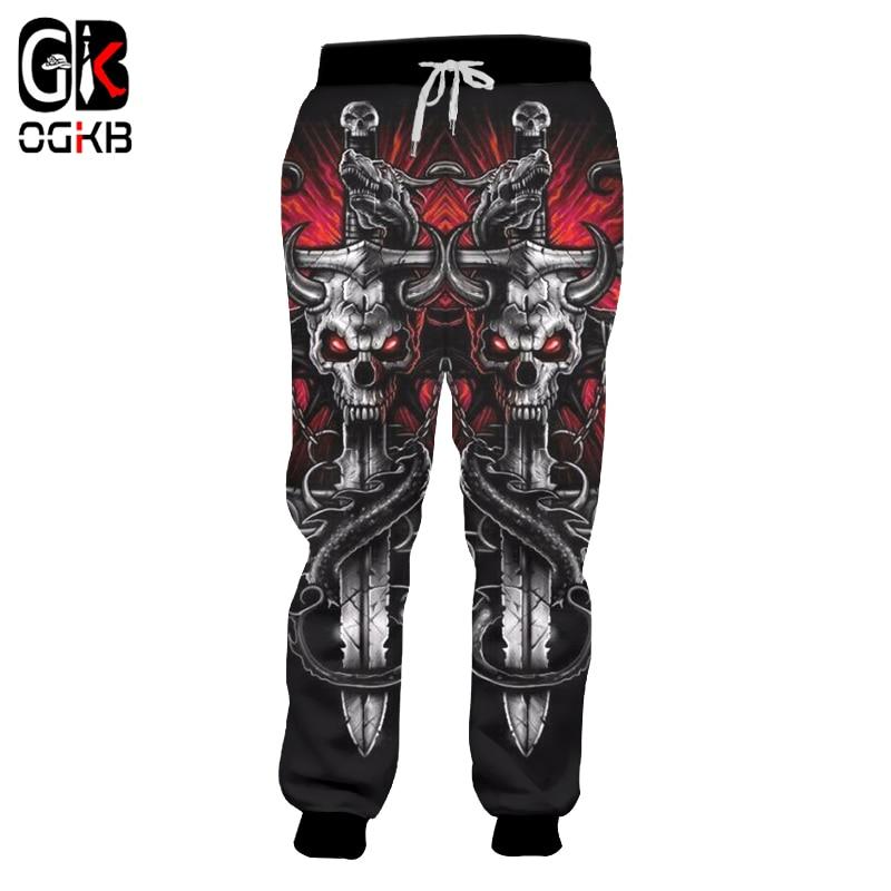 OGKB Joggers Pants New Harajuku Men's Cool Key Chain Skull Printed 3d Sweatpants Autumn Fall Winter Style Trousers Dropshipping