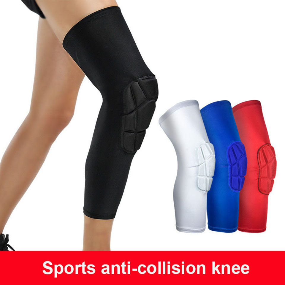 1Pcs Basketball Sports Safety Football Kneepad Basketball Knee Pads Sport Accessorie Elastic Knee Protector Protection 1pcs 3cm sponge volleyball dance kneepad football sport knee pads knee brace support tape running cycling knee protection