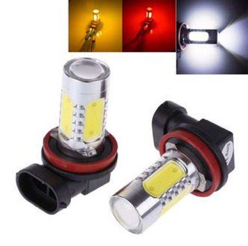 2Pcs Xenon White H8 lamp H11 COB LED Bulb Car Auto Light Source Projector DRL Driving Fog Headlight Lamp 12V DC