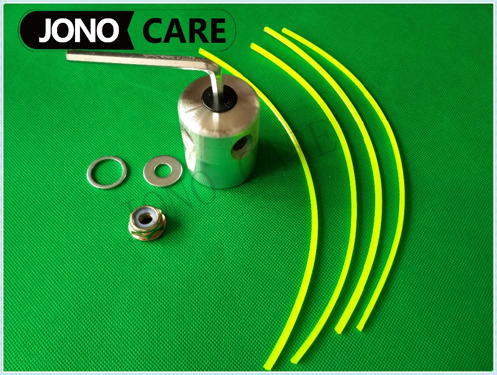 4 Nylon Line Strimmer Alu Weed Trimmer Head with M10*1.25 Left Hand Nut M10 M20 Washer For Grass Brush cutter spare parts t a m 10 alu silver