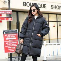 High Quality Autumn Coat Long Thick Slim Ladies Warm Coats Black Colors Hooded Coat Woman Clothes