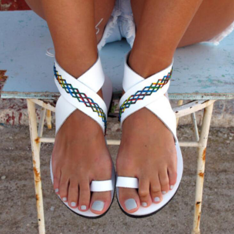 New 2018 summer women sandals flat gladiator shoes women beach sandals comfortable white sandals big size 35 - 43 new 2016 women rhinestone gladiator sandals summer flat casual shoes beach slippers size 35 39