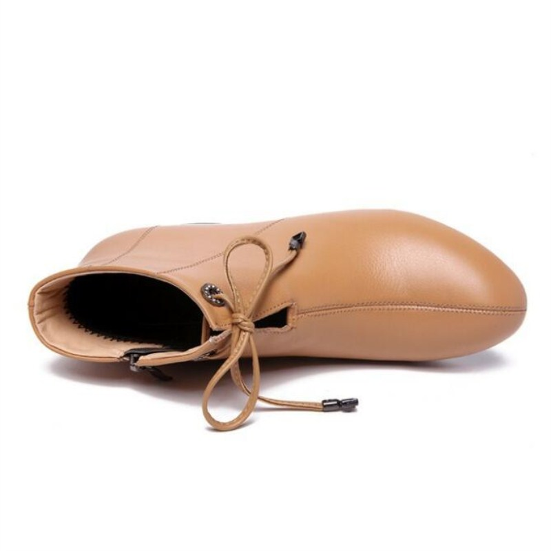Shoes Botas Invierno Velvet camel Tamaño Zapatos De 5 Plus Cm Single Cuero black Velvet Tobillo camel Encaje Shoes Genuino Gran Tacón Primavera Moda Mujer Nueva 4 2019 Black Alto qwpfv1tAx