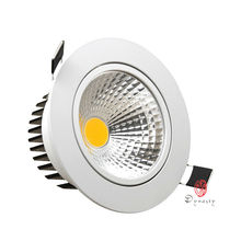 10Pcs/Lot Aluminum LED Downlight COB Spotlight Dimmable Ceiling Light Recessed Commercial Lighting AC85-265V Free Ship Dynasty