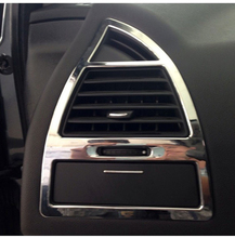 FREE SHIPPING For 2012-2013 Citroen C-QUATRE Air conditioner air outlet decorative frame(2pce/set) car console plating sequins