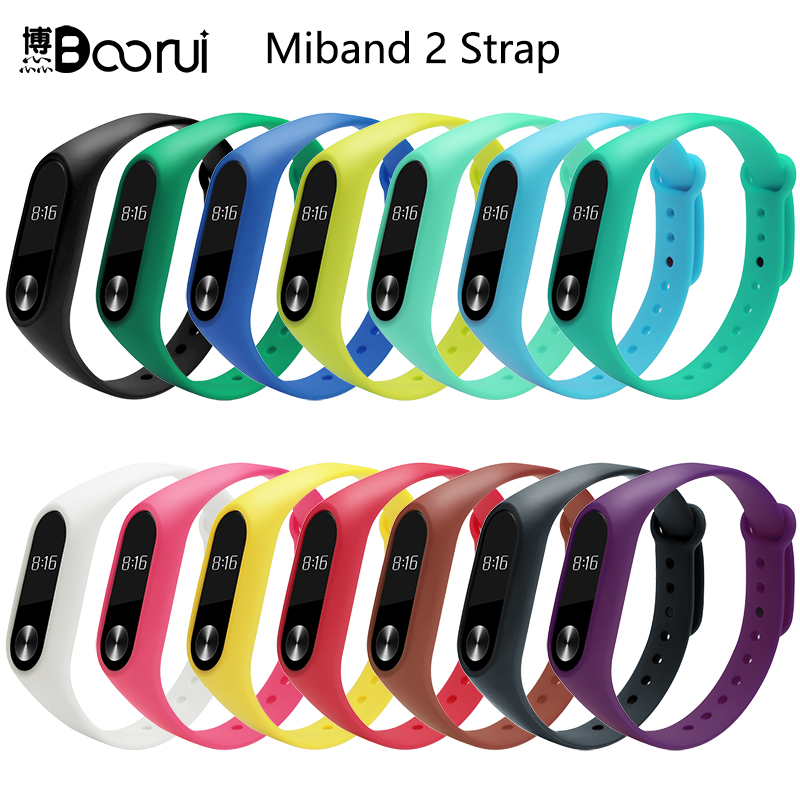 BOORUI Smart-Accessories Bracelet Wrist-Strap Mi-Band Xiaomi Sports Replace Silicone