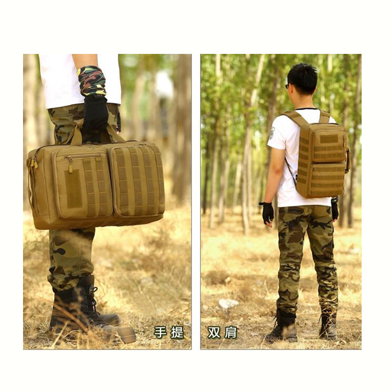 35 litres three computer bag backpack camouflage nylon high quality men's and women's big inclined military shoulder bag 2017 high quality military nylon shoulder bag green sand color