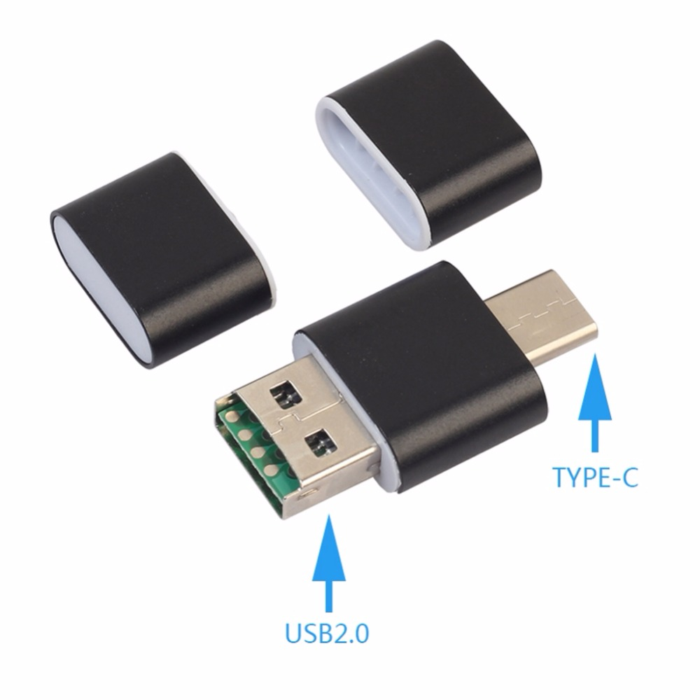 Universal Type-C For OTG USB 2.0 Smartphone PC Micro SD TF Adapter