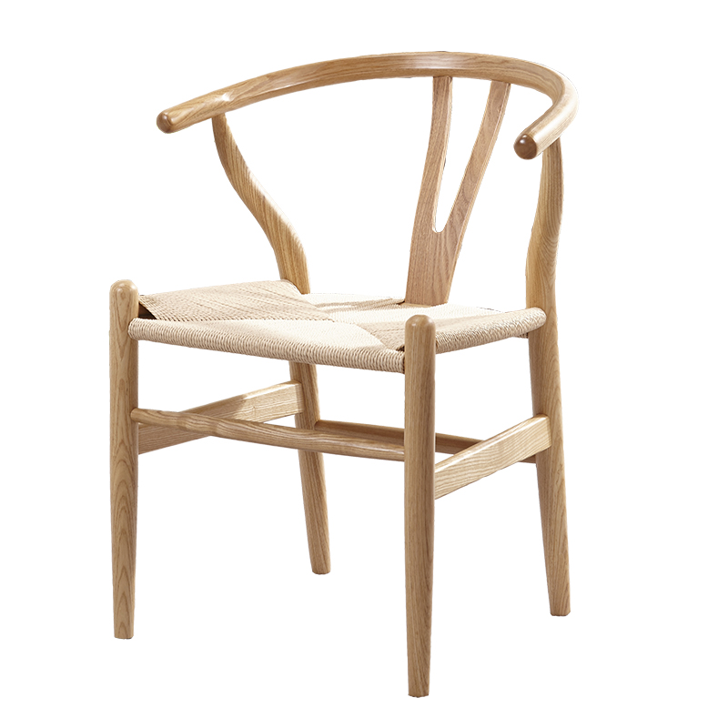 Nordic modern real wood simple dining chair ash wood ...