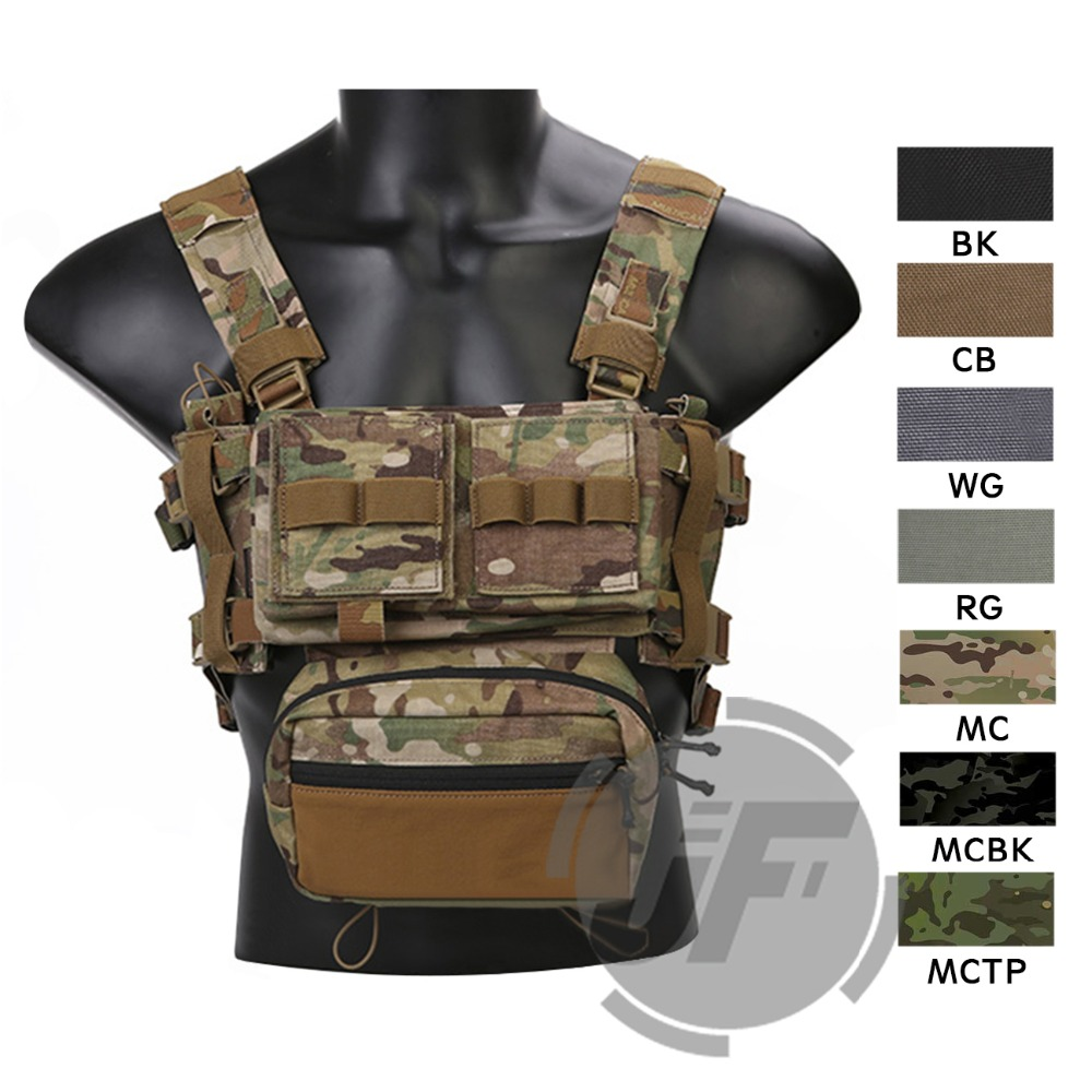 Emerson MK3 Modular Tactical Chest Rig Chassis Airsoft Hunting Military Tacital Micro Fight Vest w/ 5.56 223 magazine Pouch