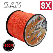 500M 8X DAH FISHING Brand Super Strong Japan Multifilament PE braided fishing line 8 Strands 15LB 20LB 30LB 40LB 50LB 80LB 100LB
