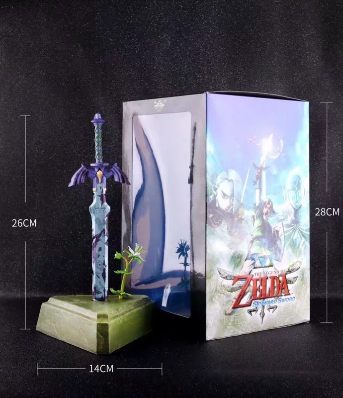 Hot Sale Vogue Hero Sword fro, Game Anime Zelda Skyward Statue Figure Figurine Toys