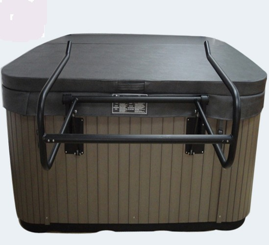 Portable outdoor spa hot tub cover lifter by Aluminum alloy Hydraulic Spa Cover Lifter - Cover Removal System for Hot Tub 2200mmx1900mm hot tub spa cover leather skin can do any other size