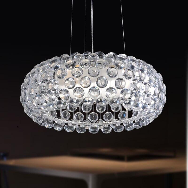Modern Cabo crystal hanging light romanitic Italian iron ...