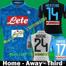 72ea9954d6c11 2018 2019 Napoli SSC Home INSIGNE HAMSIK Soccer SHIRTs Naples Third Away  Black camisetas MERTENS Italia