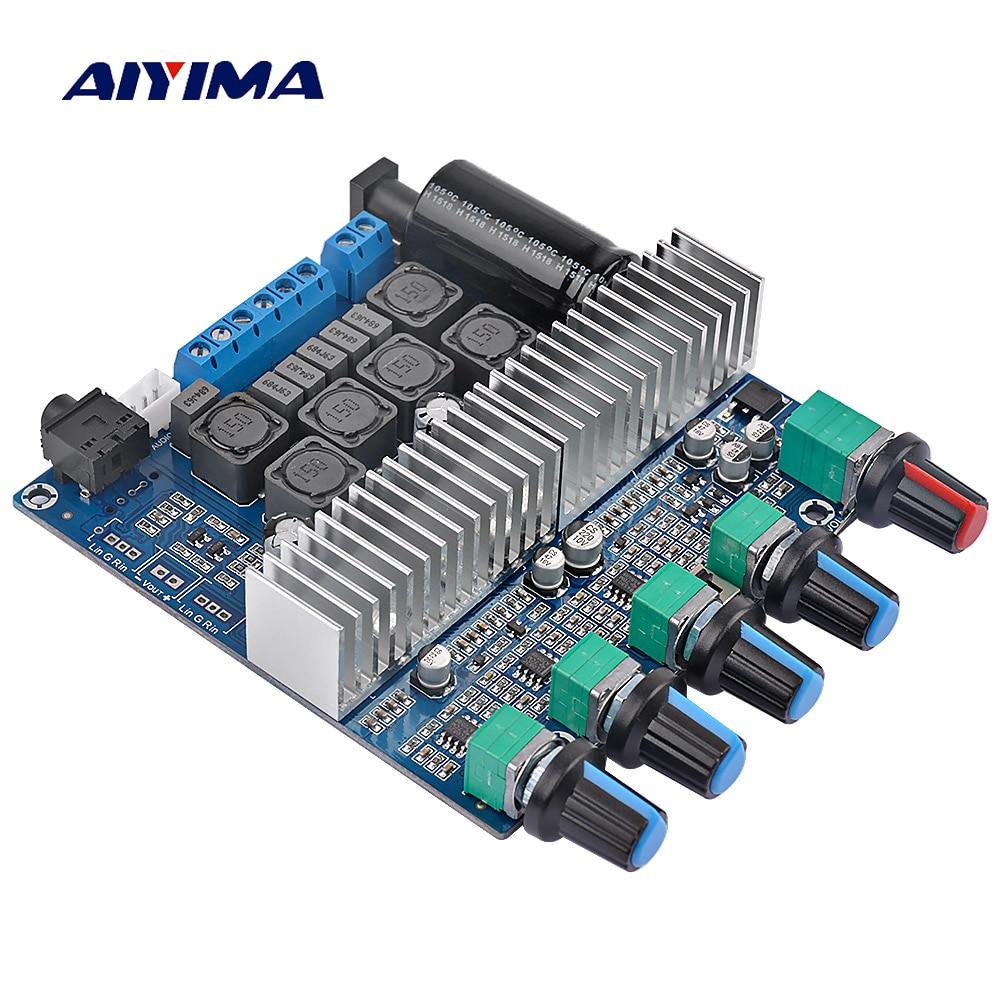 AIYIMA Assembled HIFI Digital Power Amplifier TPA3116D2 2.1 High-power Board 12-24V Subwoofer Bass Board