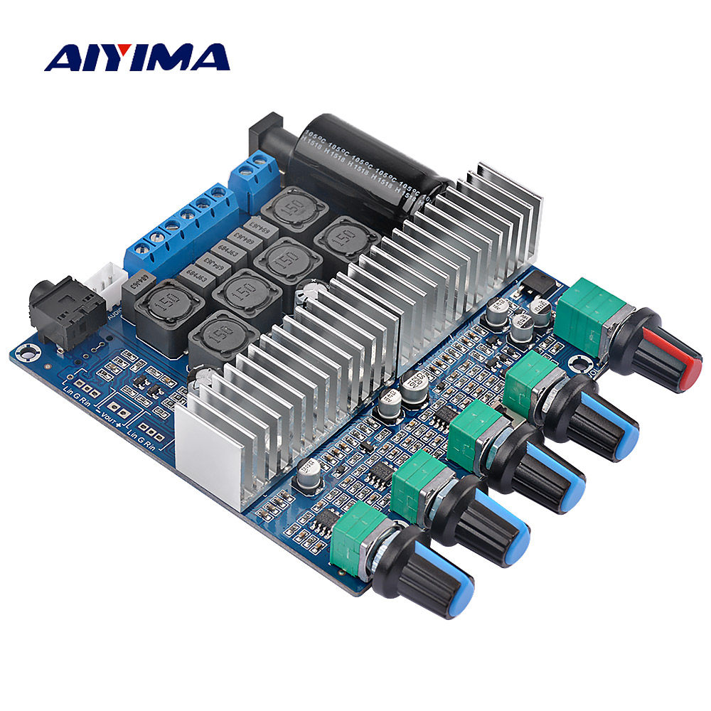 AIYIMA Assembled HIFI digital power amplifier <font><b>TPA3116D2</b></font> <font><b>2.1</b></font> high-power board 12-24V <font><b>subwoofer</b></font> bass board image