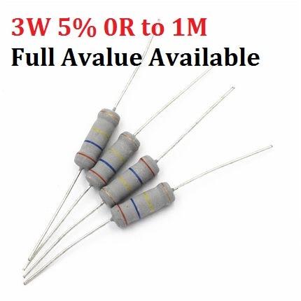 287k 1//4 watt 1/% Metal Film Resistors 100pcs