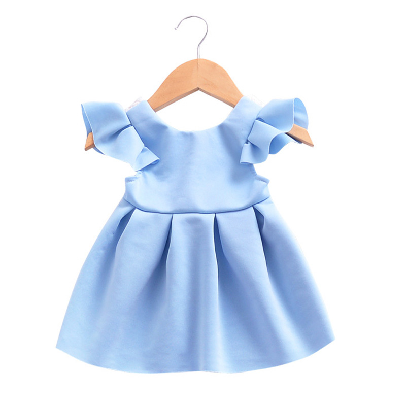Summer Baby Girl Dress Cotton Baby Girl Clothes Newborn Baby Clothes Children Dress Roupas Bebe For Birthday Party Lace Pink