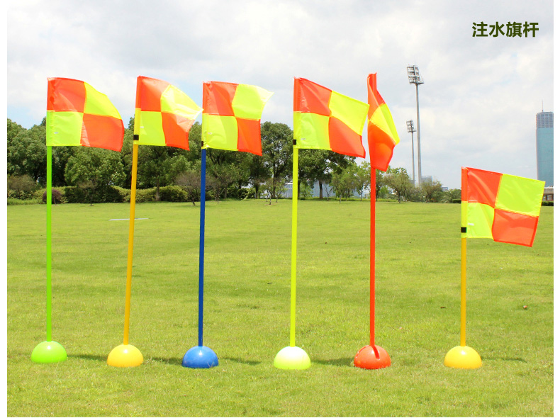 1pcs New Water Injection Base Football Door Pole Flag Logo Bar Training Equipment Sign Obstacle Marker Rod Top Quality