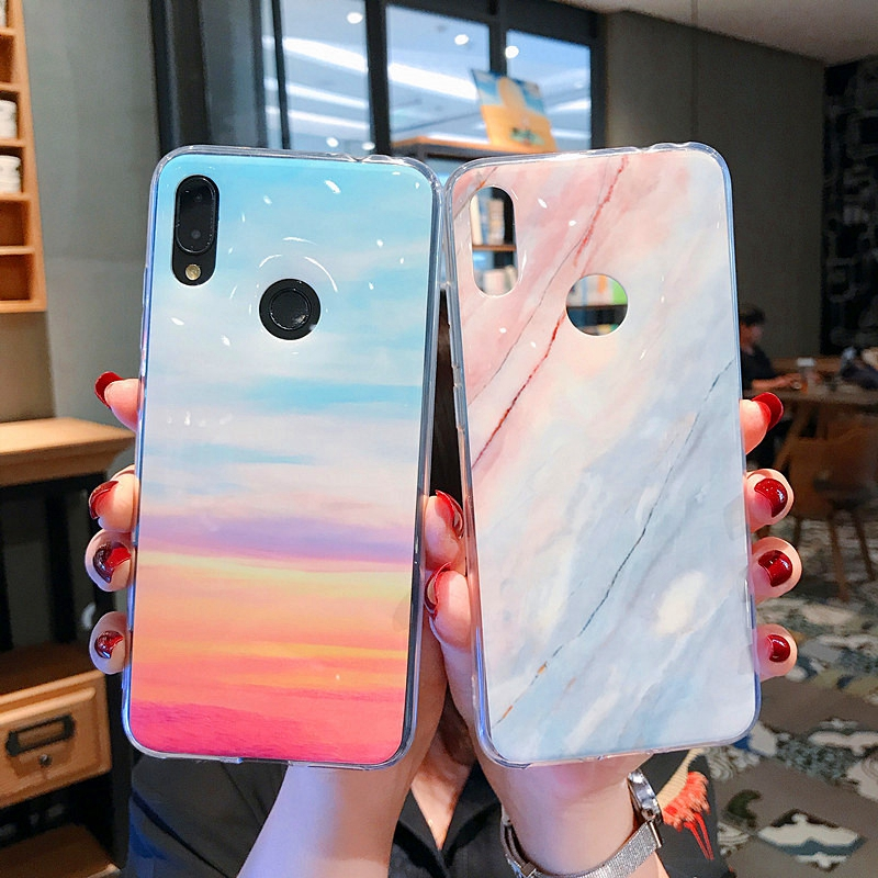 Redmi6 Marble Case For Xiaomi Redmi Note7 Note5 Cases Soft Silicone TPU Cover For Xiaomi 8 Lite 8lite Mi8 Mi9 redmi note6 pro in Fitted Cases from Cellphones Telecommunications