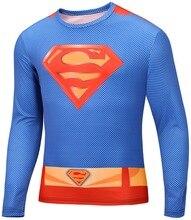 O-neck Mens Long Sleeve Print T Shirts 2015 Captain America Superman Star Wars Sports Sobretudo Masculino Lycra
