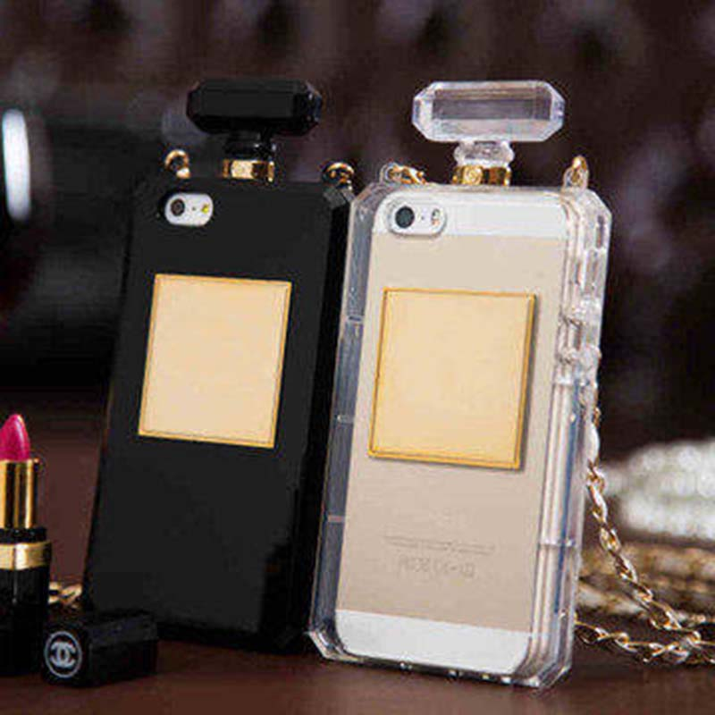 TPU Silicone Perfume coque case for iPhone 7 plus 7 6 6s Plus 5 5s SE 4 4s 5c with strap Capa For iPhone6 rubber carcasa fundas